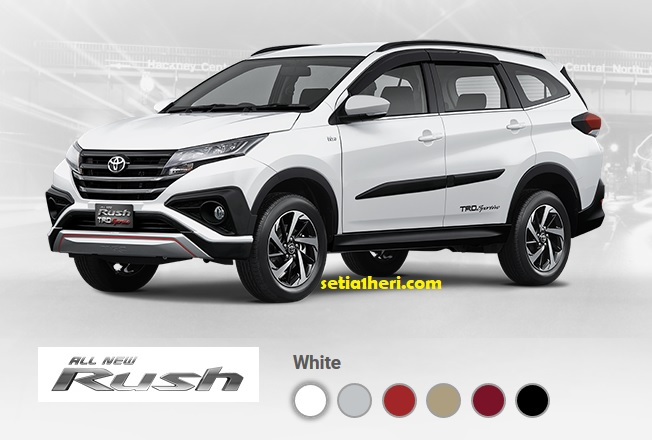 pilihan warna all new toyota rush 2018