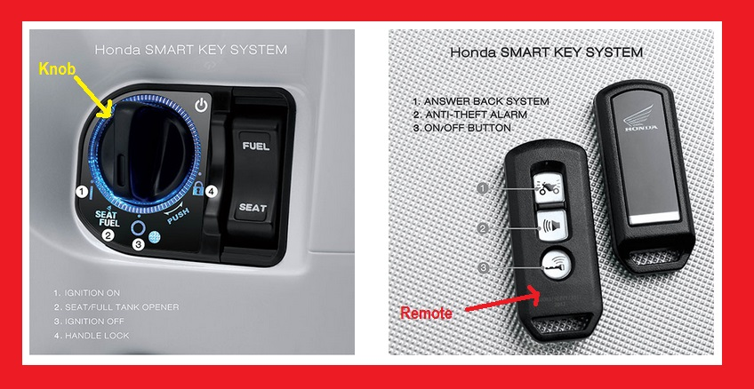 remote dan knob pada honda pcx 150 lokal indonesia