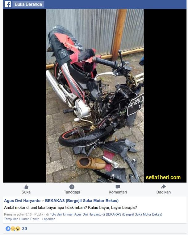 Ambil motor habis kecelakaan di kepolisian apa bayar