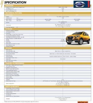 brosur spesifikasi dan pilihan warna datsun cross tahun 2018