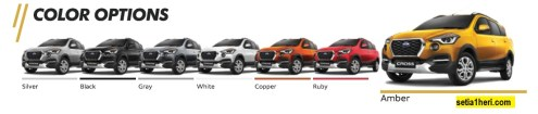daftar pilihan warna baru datsun cross tahun 2018
