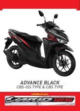 Pilihan warna hitam Honda Vario 125 tahun 2018