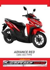 Pilihan warna merah Honda Vario 125 tahun 2018
