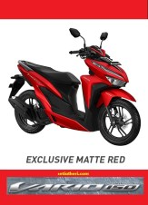 Pilihan warna merah Honda Vario 150 tahun 2018