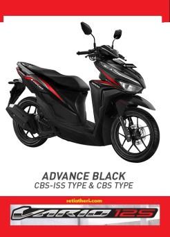 Pilihan warna merah hitam Honda Vario 125 tahun 2018