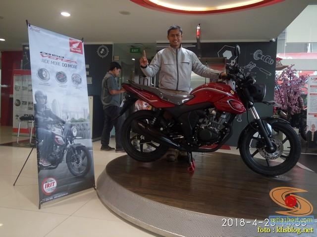 blogger setia1heri dan Honda CB150 Verza tahun 2018