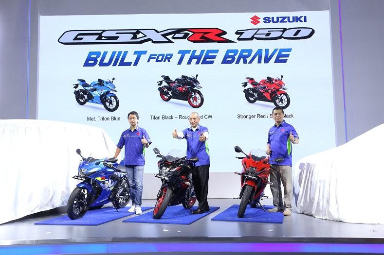 Pilihan warna dan stripping baru Suzuki GSX R150 tahun 2018, lebih stylish brosis...
