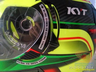 Review Helm KYT K2 Rider Super FLuo tahun 2018 (3)
