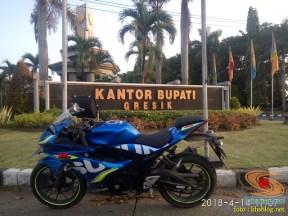 Serunya blogger setia1heri manasin mesin Suzuki GSX R 150 alias si 3C0 buat sungkem emak di Tuban (18)