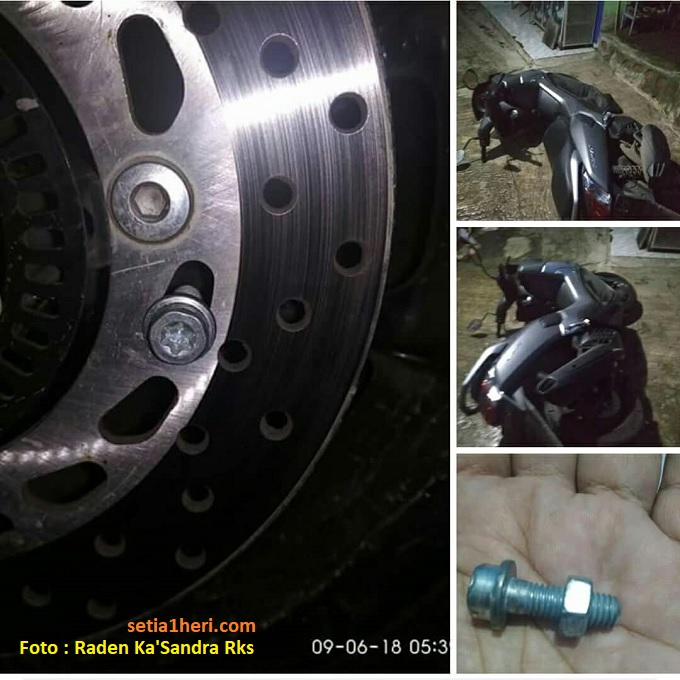 Tips sederhana anti maling pada sepeda motor, pakai baut gans...