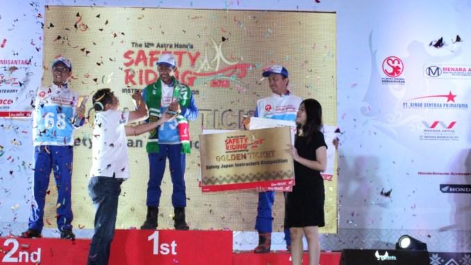 kontes instruktur safety riding honda di pekanbaru riau tahun 2018