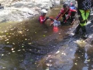 Honda CRF150L tenggelam namun mesin bisa hidup lagi