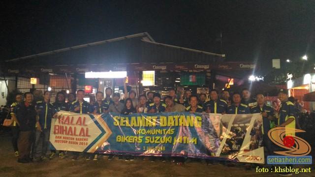 Meriahnya Halal Bihalal Biker Suzuki Jawa Timur dan Nobar Moto GP Assen 2018 (5)