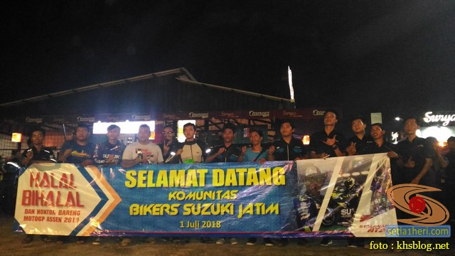 Meriahnya Halal Bihalal Biker Suzuki Jawa Timur dan Nobar Moto GP Assen 2018 (6)