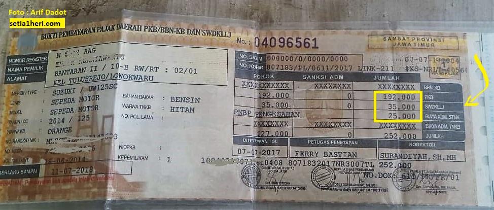 Pajak motor matic Suzuki Hayate di Jawa Timur brosis...