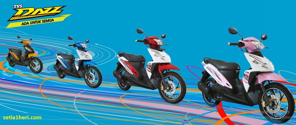 harga motor matic TVS Dazz tahun 2018