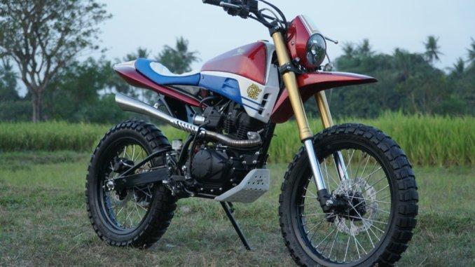 konsep Modifikasi scrambler pada trail Honda CRF150L