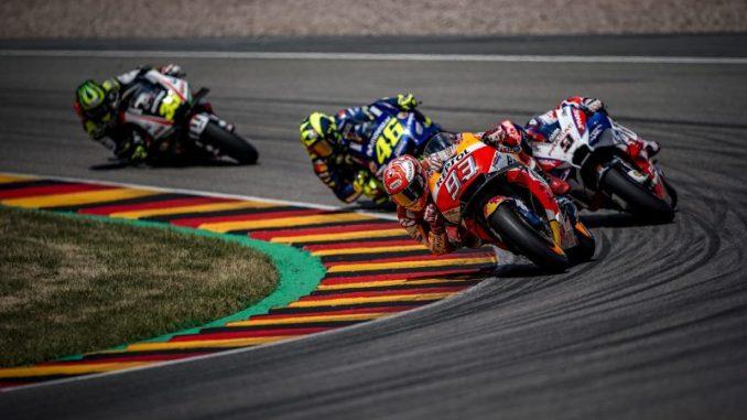 marquez beraksi di moto gp jerman tahun 2018