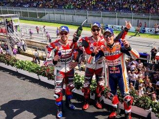 Hasil Moto GP Austria 2018 yakni lorenzo, marquez dan dovi