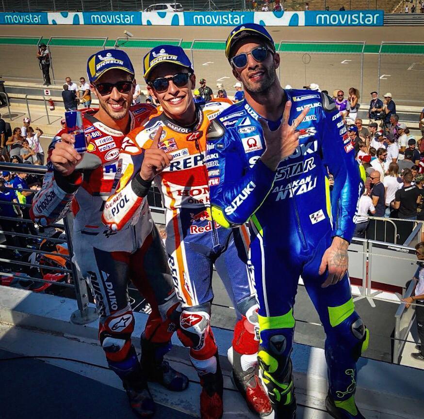 Hasil Moto GP Aragon, Spanyol tahun 2018 yakni Marquez posisi pertamax disusul Dovi dan Iannone