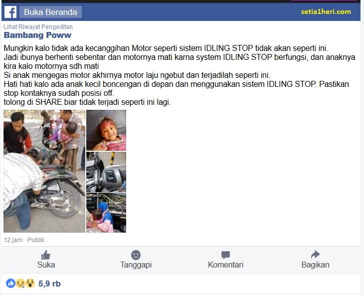 bahaya idling stop bagi anak-anak