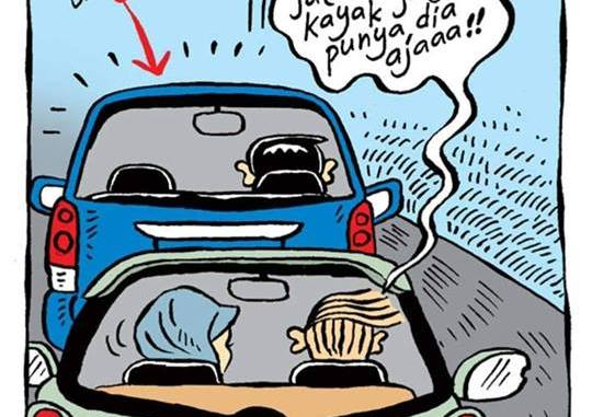Kendaraan di depan jalannya lelet bangets, enaknya kita mesti gimana?