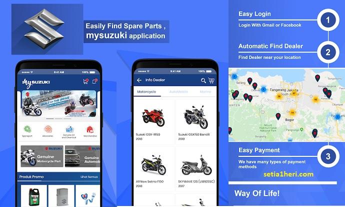 unduh aplikasi my suzuki untuk cari sparepart resmi kendaraan suzuki