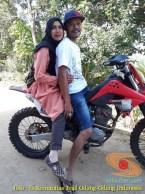 Kumpulan foto biker prewedding dan romantisme pasangan diatas motor trail brosis (13)