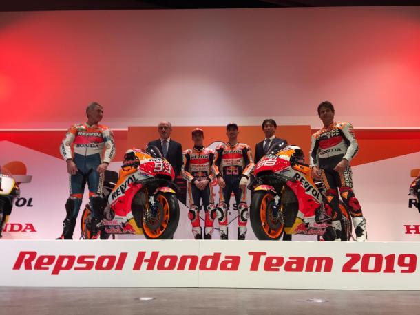 Livery Repsol Honda Team Moto GP 2019 resmi diperkenalkan di Madrid, Marquez dan Lorenzo sumringah brosis