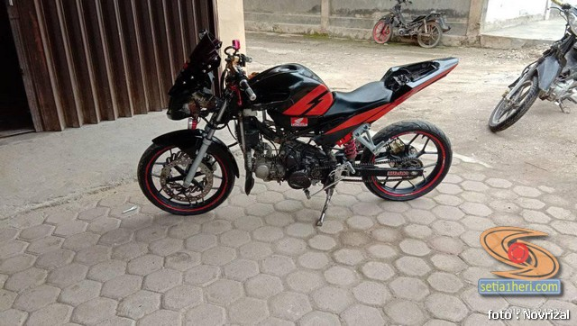 Modifikasi Honda Supra Fit full fairing kayak motor sport brosis