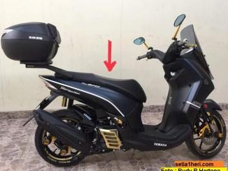 Review kelebihan dan kekurangannya terkait papas jok Yamaha Lexi menurut warganet