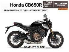 Honda CB650R tahun 2019 dengan 2 pilihan warna (2)