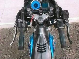 Apa kelebihan dan kekurangan model stang jepit lurus angka 11 kayak gerobak bakso pada sepeda motor .. (3)