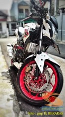 Kumpulan gambar modifikasi sepeda motor pakai piringan cakram besar brosis (14)