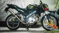 Kumpulan gambar modifikasi sepeda motor pakai piringan cakram besar brosis (16)