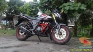 Kumpulan gambar modifikasi sepeda motor pakai piringan cakram besar brosis (3)