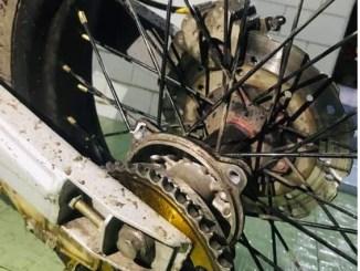 Tromol motor belakang patah, dimodifikasi atau beli baru lagi