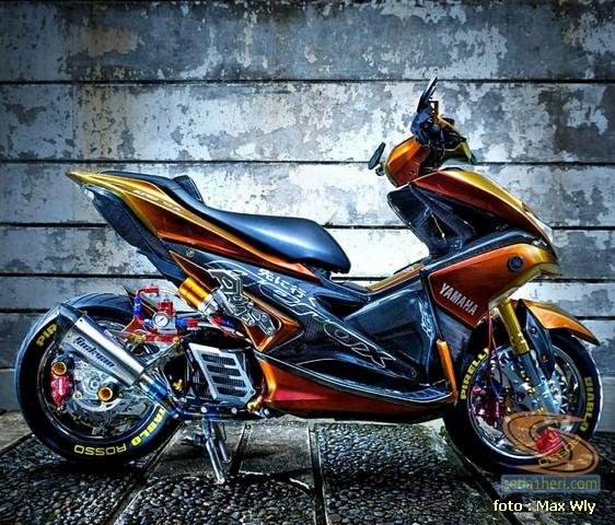 Modifikasi sadis Yamaha Aerox 155 asal Surabaya