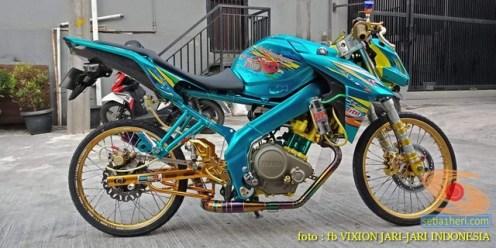 Kumpulan gambar modifikasi Yamaha Vixion Jari-jari bodi coak brosis.. (3)