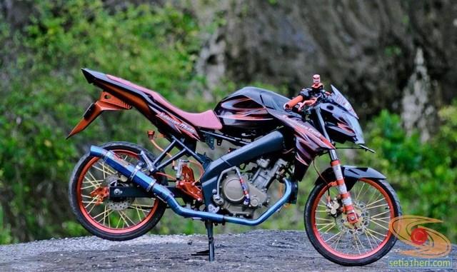 Kumpulan Gambar Modifikasi Yamaha Vixion Jari Jari Bodi Coak Brosis Setia1heri Com