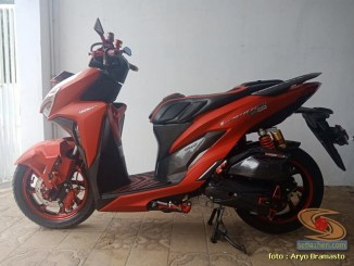 Modifikasi All New Honda Vario 150 merah merona ala sultan brosis