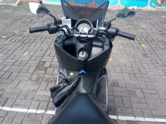Modifikasi stang Yamaha Nmax dengan stang Honda Tiger Lawas