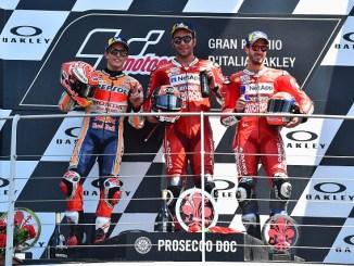 Hasil Moto GP Mugello, Italia 2019 : Petrucci juara, ditempel ketat Marquez dan Dovi..mbah Rossi ndlosor