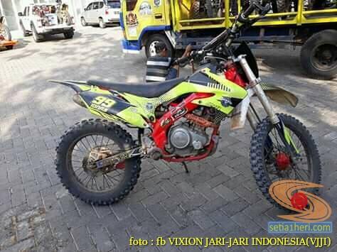 Kumpulan foto modifikasi trail atau supermoto dengan basis motor Yamaha Vixion (6)