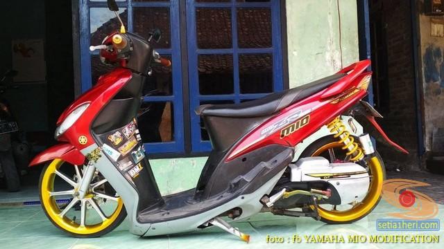 Kumpulan Gambar Modifikasi Yamaha Mio Ceper Alias Penyapu Jalan