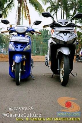 Kumpulan Gambar Modifikasi Yamaha Mio Ceper alias penyapu jalan gans.. (8)