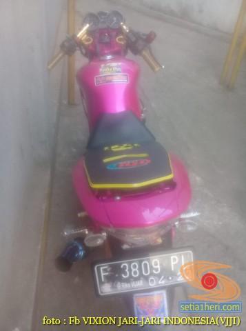 Kumpulan gambar modifikasi Yamaha Vixion warna pink brosis (12)