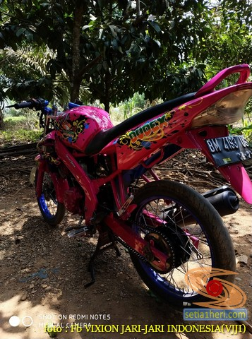 Kumpulan gambar modifikasi Yamaha Vixion warna pink brosis (17)