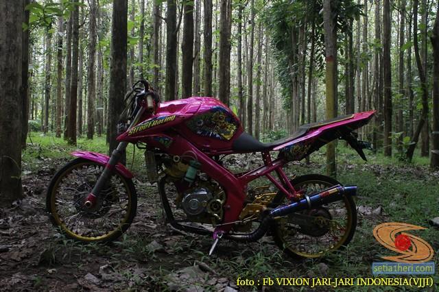 Kumpulan gambar modifikasi Yamaha Vixion warna pink brosis (8)