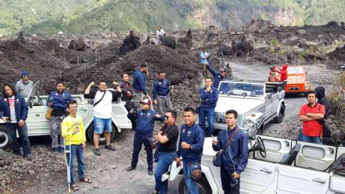 wisata black lava di gunung batur